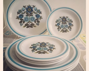 1960's Midwinter Romany - 2 x Dinner Plates - John Russell