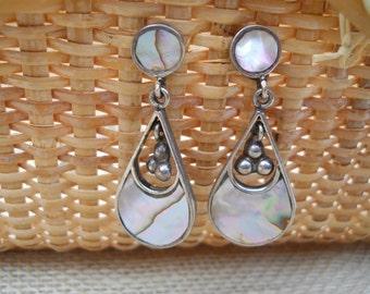 Lovely Vintage Mother of Pearl Dangle Earrings