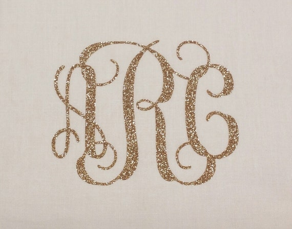 vine monogram iron on letters glitter iron on by With glitter monogram letters