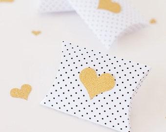 Heart pillow Favor Boxes-set of 2