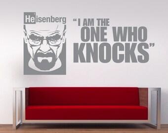 Breaking Bad Heisenberg  Portrait Vinyl Wall Art, wall Sticker, Decal (walter white)
