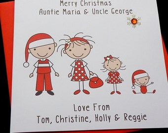 Christmas Family Group Personalised Card