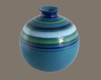 Bitossi for ROSENTHAL Netter Blue Striped Mid Century Vase