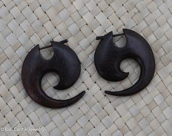 Wood Post Earrings, Siye Wood Stick Post Earrings, Sono Wood Earrings