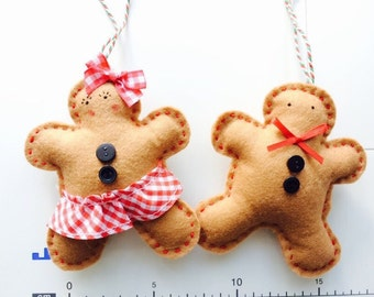 Cute, gingerbreadman decoration, christmas, handmade, nordic, sweet, gift ideas, fun and unique
