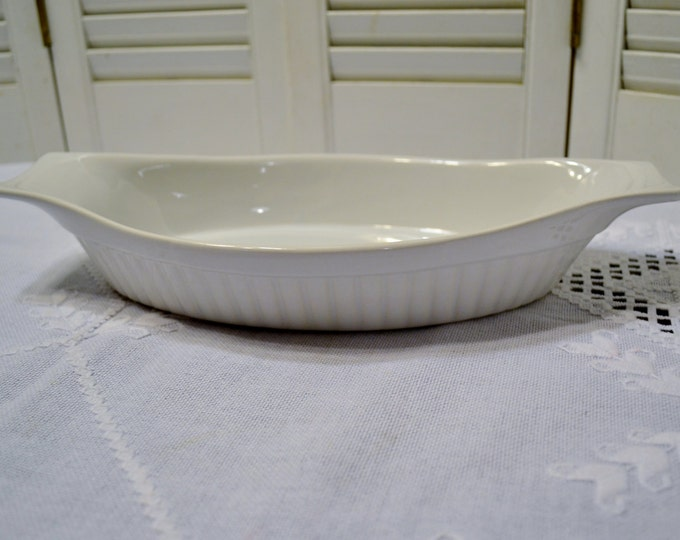 Northland Casserole Au Gratin Baking Dish White Oven Microwave Japan Cookware PanchosPorch