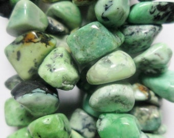 """Genuine African Turquoise chips,  beads approx. 10 - 12 mm, full strand 16"""""""