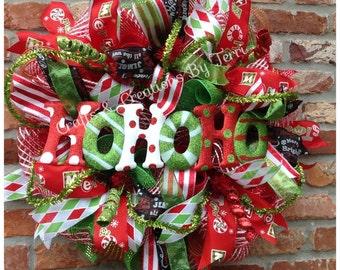 Christmas Wreath -  Ornament Wreath - Holiday Wreath - Christmas Decor - Whimsical Wreath - Deco Mesh Wreath - Door Decor - Ready To Go