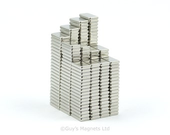 9mm x 5mm x 1.5mm strong neodymium block magnets ideal for magnetic card closures and magnetising wargame figures GuysMagnets