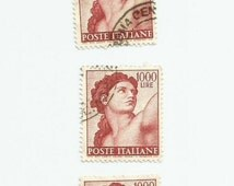 5 Eve From The Temptation of Adam and Eve Sistine Chapel Used Postage Stamps
