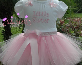 Little Sister Outfit, Pink Tutu Little Sister Outfit