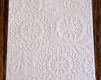 LOVELY LACE Floral Embossed Card Stock Panels Perfect for Scrapbooking and Card Making - Set of 12