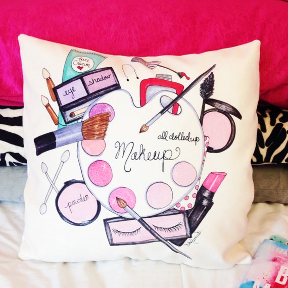 Decorative Pillows Makeup : Makeup pillows Makeup on pillows Makeup by theprettypinkstudio