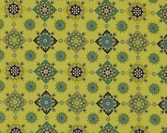 Ansonia - Medallion Mossy by Denyse Schmidt for Free Spirit Fabrics, 1/2 yard, PWDS060.Mossy