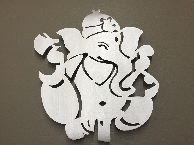 Metal Elephant Wall Decor : Ganesha hindu elephant metal wall art by inspiremetals on etsy