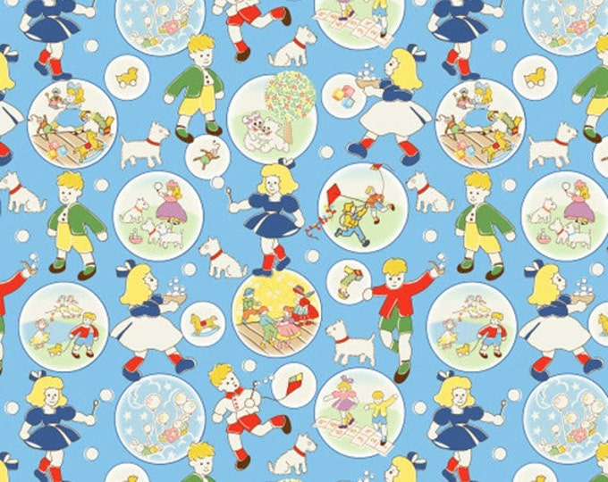 Half Yard Storybook Playtime - Playtime in Multi - Cotton Quilt Fabric - by Whistler Studios for Windham Fabrics - 39299-X (W3097)