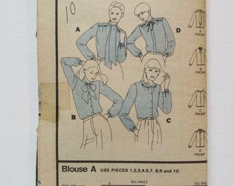 Butterick 3319 Womens Blouse size 8-10-12