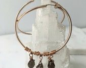 Under Her Spell Smoky Quartz Hoop Earring