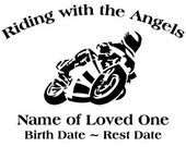 In Loving Memory Street Bike Motorcycle Decal Sticker