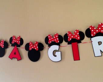 It's A Girl Minnie Mouse Baby Shower Banner Minnie Mouse Banner Baby Shower Banner Girl Baby Banner Minnie Mouse it's A Girl Baby Shower