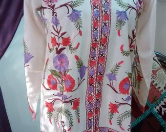 silk embroidered jacket
