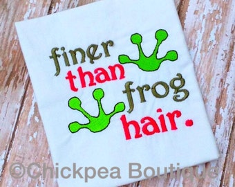 Instant Download: Finer Than Frog Hair Embroidery Design