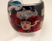 Custom for KELLY Comic Book Chunky Resin Cuff Bangle Bracelet Featuring Classic X-Men, Rogue