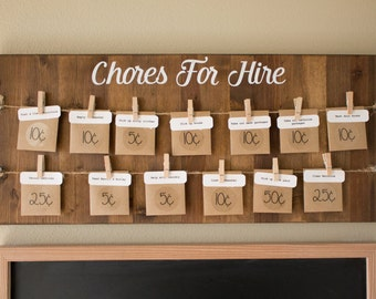 Chores for Hire Sign