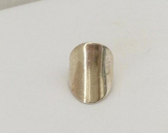 Vintage Sterling Silver Domed Band Ring Size 6.5