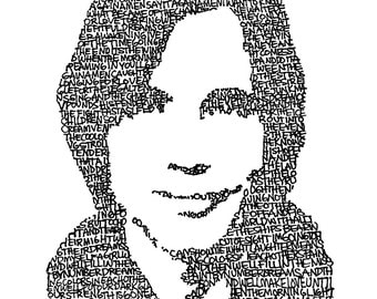 "Jackson Browne (Hand Written Lyrics to ""The Pretender"") Print (11x14) *Great gift for guys!* - FREE SHIPPING"