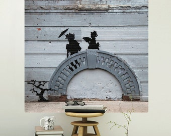 NYC Japanese Bridge Banksy Wall Decal - #71131