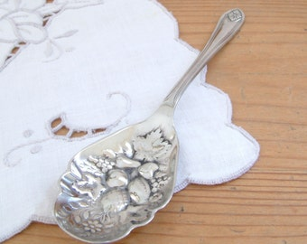 Vintage Sliver Plated Preserving spoon. IDIUM Potter Sheffield.