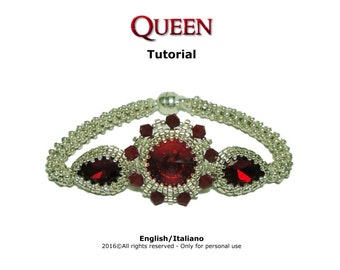 Tutorial Queen Bracelet - beading pattern
