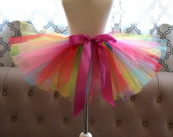 Kid's Rainbow Tutu - Multi Colored Tutu