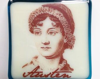 Jane Austen Night Light Fused Glass
