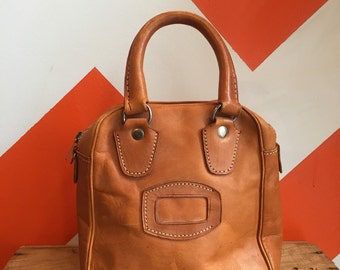 1970s vintage leather tool bag