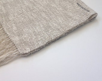 Handwoven Linen and Cotton Neck Scarf