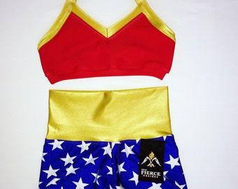 Wonder Woman Themed Short Set