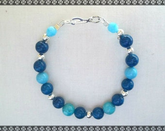 blue bracelet, dark blue bracelet, swarovski bracelet, swarovski,  light blue bracelet