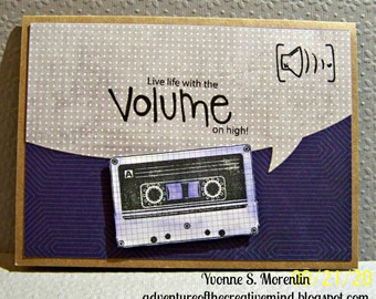 Live Life With The Volume On High... Greeting Card