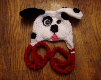 Baby hat puppy hat dalmatian baby hat photo prop baby boy hat baby girl hat Halloween costume