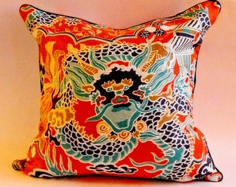 Thibaut Imperial Dragon Pillow Cover