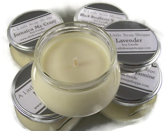 PICK THREE Candles // 8 oz. Soy Tureen Candles //  Eco-friendly candles made from all natural products with reusable container