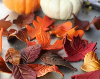 Fondant Fall Autumn Leaves