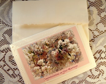 MARRIAGE CONGRATULATIONS, Handmade Photo Card, created by Pam of Pam's Fab Photos