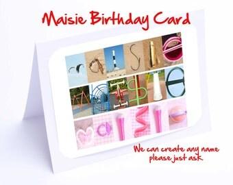 Maisie  Personalised Birthday Card