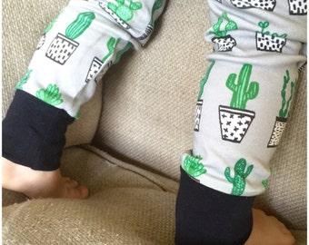 Organic Cactus Leggings- 100 % Organic Cotton / Cacti / Terrarium