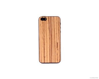 Real Zebrawood iPhone 5 5s 4 4s Wood Skin