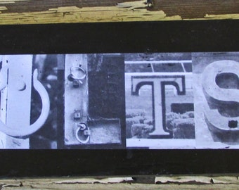 Indianapolis Colts football sign, football superbowl sign, football photo letter art