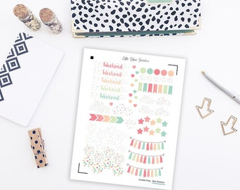 Printed and Cut Sticker Sheet : Confetti Party Collection - Customize Color